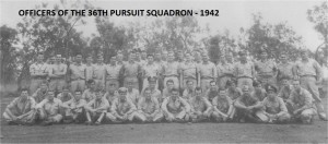 ARMSTRONG - 36TH FIGHTER SQUADRON PIC OF OFFICERS IN 1942