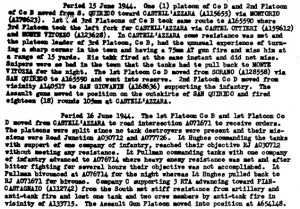 After Action Report 16 June 1944 Noting Boots' Death