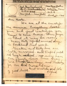 CARDWELL BOOTS LETTER FROM ELFRED DOBIE 4 DAYS BEFORE DEATH