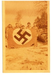 Cardwell's Tank Crew With Nazi Flag - North Africa