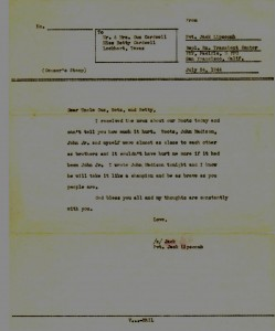Marine Pvt Jack Lipscomb's Condolence Letter To The Family (Jack would be killed on Iwo Jima