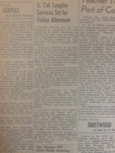 LANGLEY '- FUNERAL NOTICE 1948 ENTIRE PIC